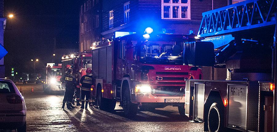 Pożar na Chabrowej w Rybniku
