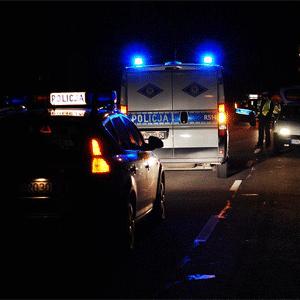 Wypadek BMW na autostradzie